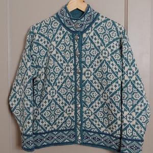 Vintage L.L. Bean Nordic Wool Sweater Cardigan